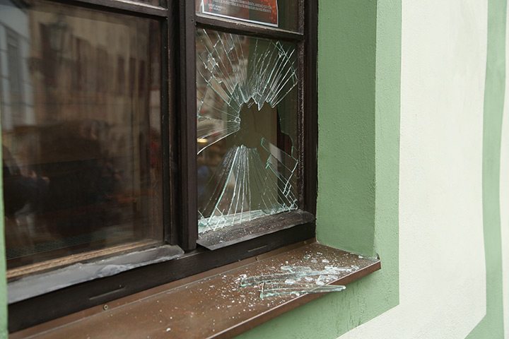 A2B Glass are able to board up broken windows while they are being repaired in Southfield.